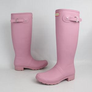 Hunter Oirgninal Tour Matte Pink Tall Boots Rain